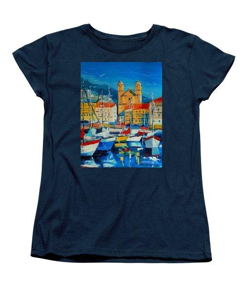 Mediterranean Harbor Women's T-Shirt (Standard Cut)