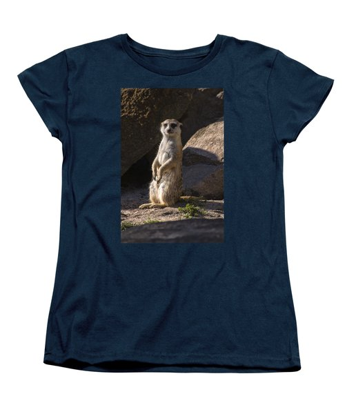 Meerkat Looking Forward Women's T-Shirt (Standard Cut) by Chris Flees