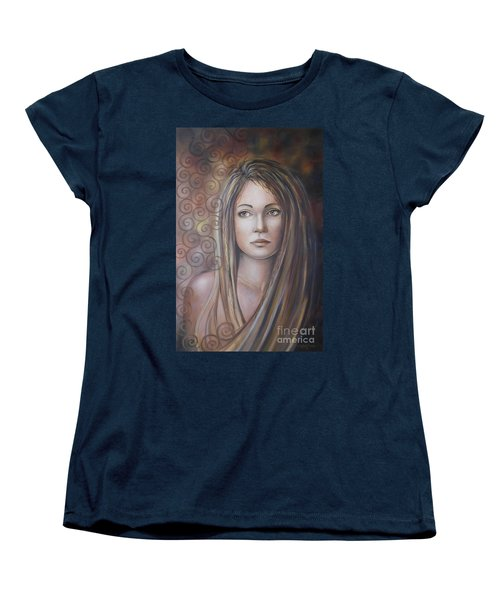 Women's T-Shirt (Standard Cut) featuring the painting Melancholy 080808 by Selena Boron