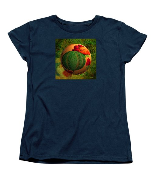 Women's T-Shirt (Standard Cut) featuring the digital art Melon Ball  by Robin Moline