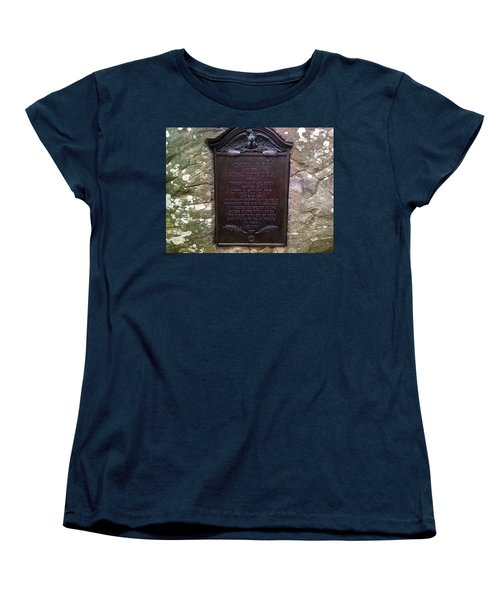 Memorial Tablet To Signal Corps U.s.a. Women's T-Shirt (Standard Cut) by Amazing Photographs AKA Christian Wilson