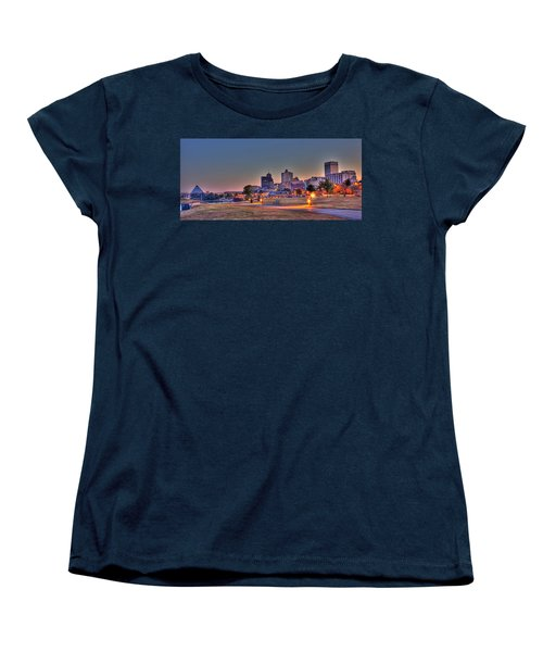 Cityscape - Skyline - Memphis At Dawn Women's T-Shirt (Standard Cut) by Barry Jones