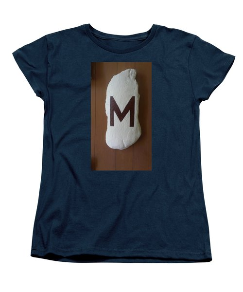 Women's T-Shirt (Standard Cut) featuring the painting Menominee Maroons by Jonathon Hansen