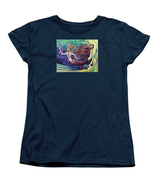 Mermaid Gargoyle Women's T-Shirt (Standard Cut) by Genevieve Esson