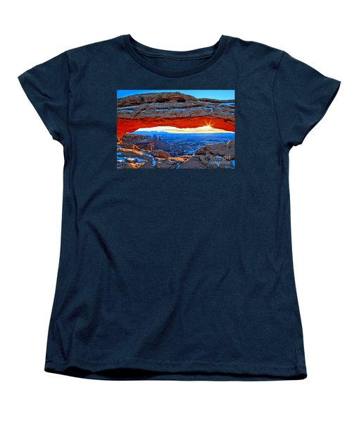 Mesa Arch Sunrise Women's T-Shirt (Standard Cut) by Adam Jewell