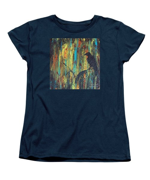 Women's T-Shirt (Standard Cut) featuring the painting Messenger by Jacqueline McReynolds