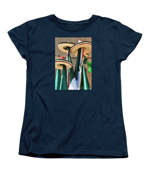 Women's T-Shirt (Standard Cut) featuring the photograph Mexican Independence Day - Photograph By David Perry Lawrence by David Perry Lawrence