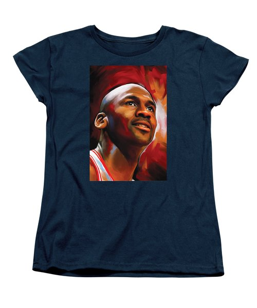 Michael Jordan Artwork 2 Women's T-Shirt (Standard Cut)