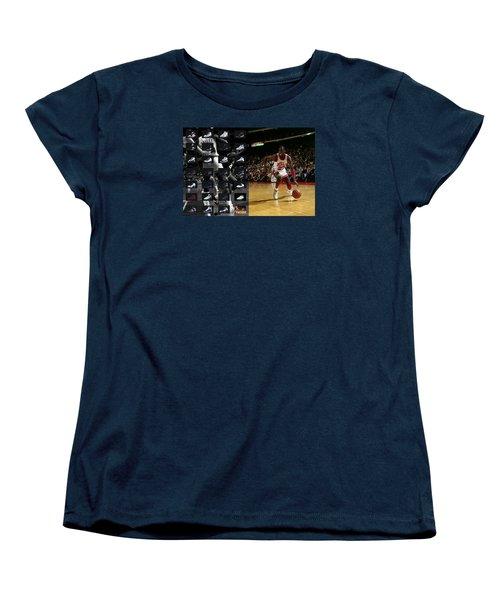 Michael Jordan Shoes Women's T-Shirt (Standard Cut) by Joe Hamilton