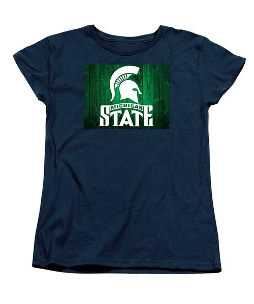 Michigan State Barn Door Women's T-Shirt (Standard Cut) by Dan Sproul