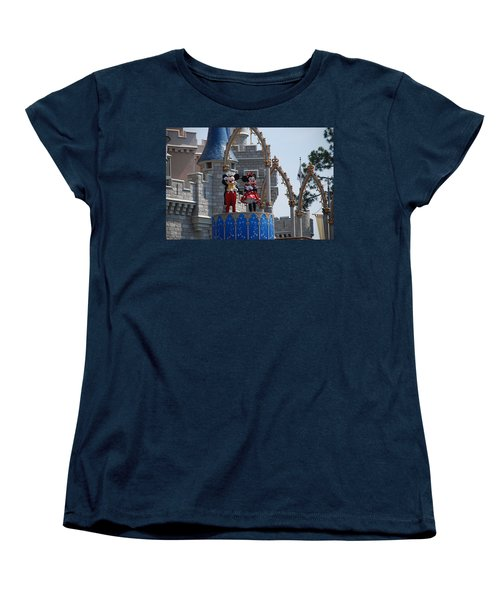 Mickey And Minnie In Living Color Women's T-Shirt (Standard Cut)