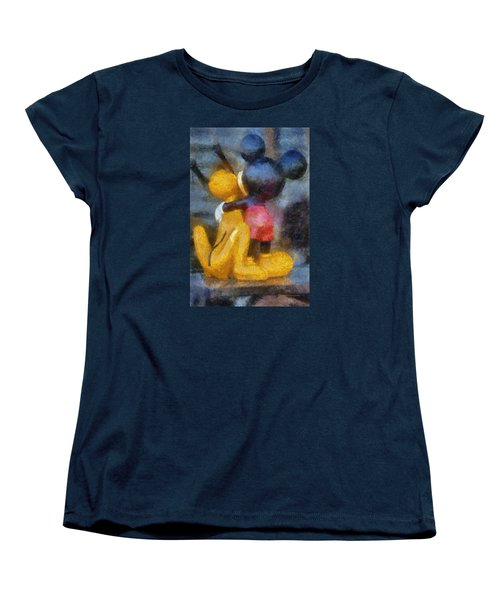 Mickey Mouse Photo Art Women's T-Shirt (Standard Cut) by Thomas Woolworth