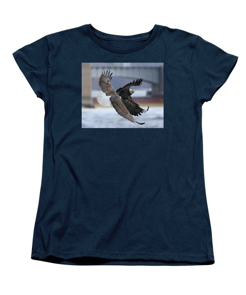 Women's T-Shirt (Standard Cut) featuring the photograph Mid Air Fight by Coby Cooper