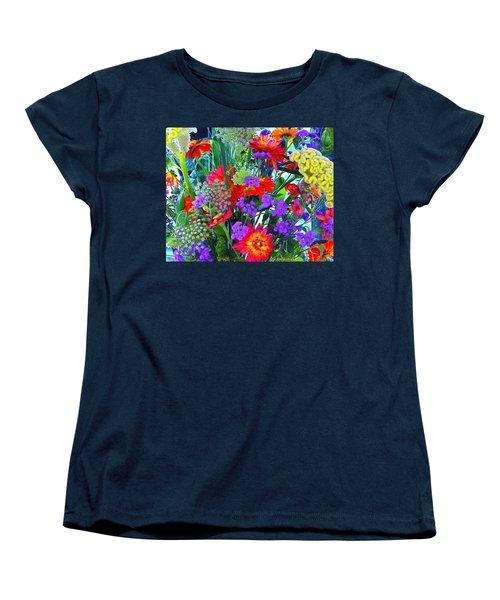 Mid August Bouquet Women's T-Shirt (Standard Cut) by Byron Varvarigos