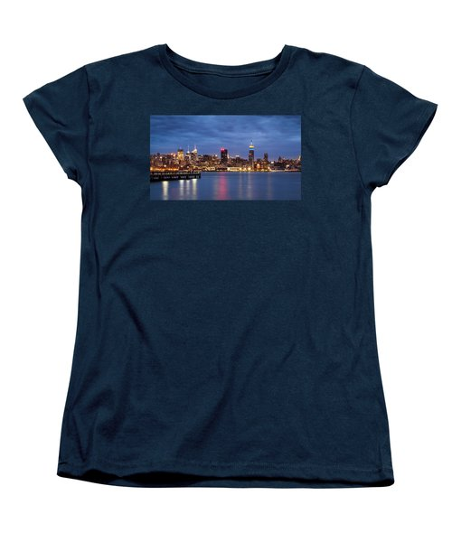 Women's T-Shirt (Standard Cut) featuring the photograph Midtown Manhattan by Mihai Andritoiu