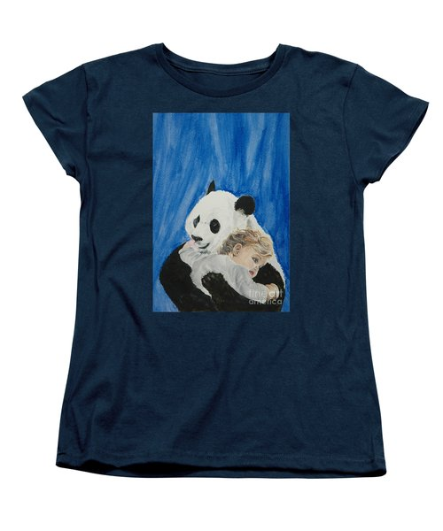 Mika And Panda Women's T-Shirt (Standard Cut) by Tamir Barkan