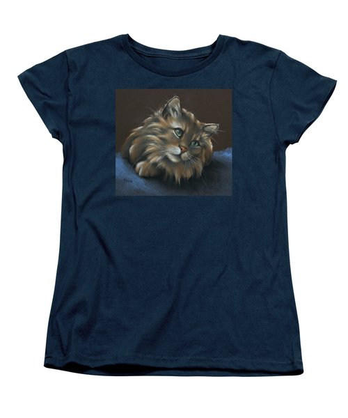 Women's T-Shirt (Standard Cut) featuring the drawing Miko by Cynthia House