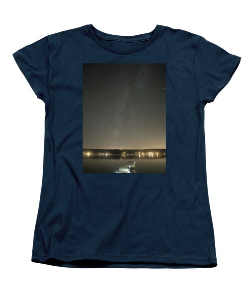 Milky Way Spills Into Conesus Women's T-Shirt (Standard Cut) by Richard Engelbrecht