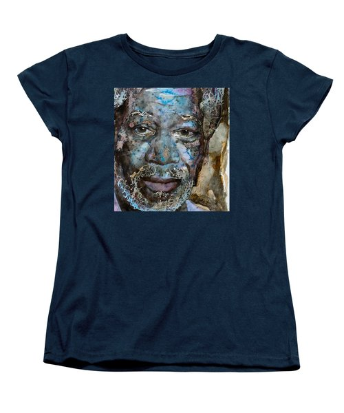 Women's T-Shirt (Standard Cut) featuring the painting Million Dollar Baby by Laur Iduc