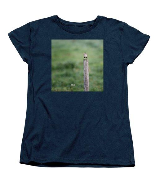 Minimalism Mockingbird Women's T-Shirt (Standard Cut) by Bill Wakeley