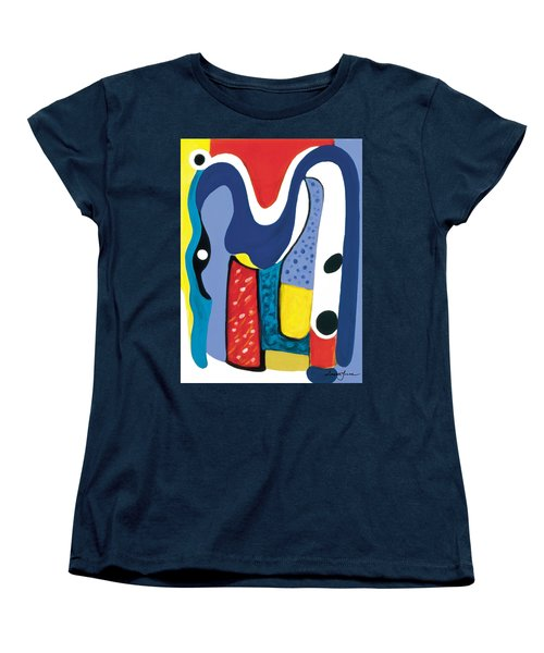 Women's T-Shirt (Standard Cut) featuring the painting Mirror Of Me 1 by Stephen Lucas