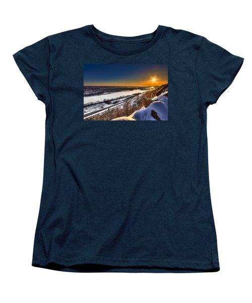 Mississippi River Sunrise Women's T-Shirt (Standard Cut) by Tom Gort