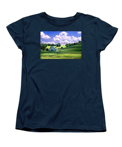 Missouri River Valley Women's T-Shirt (Standard Cut) by Steve Karol