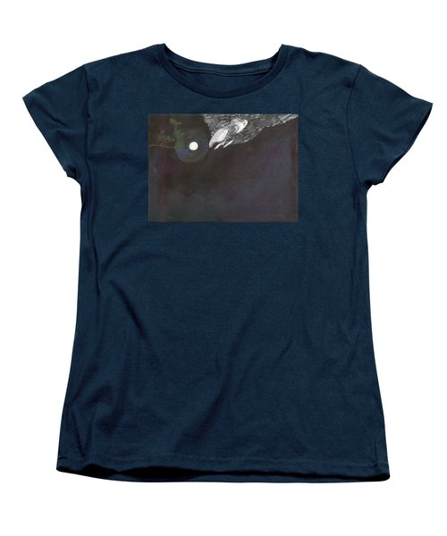 Women's T-Shirt (Standard Cut) featuring the painting Misty Twinight by Kim Pate
