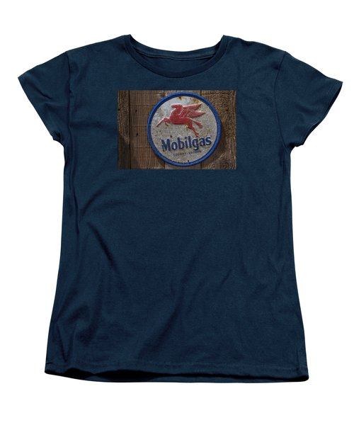 Mobil Gas Sign Women's T-Shirt (Standard Cut) by Garry Gay