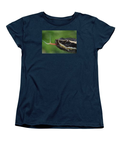 Women's T-Shirt (Standard Cut) featuring the photograph Moccasin Snake by Rudi Prott