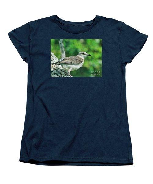 Mockingbird Pose Women's T-Shirt (Standard Cut) by Deborah Benoit
