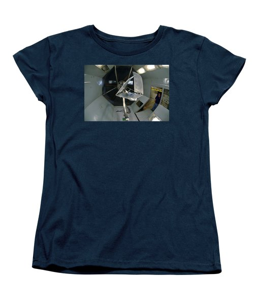 Women's T-Shirt (Standard Cut) featuring the photograph Model Airplane In Wind Tunnel by Science Source