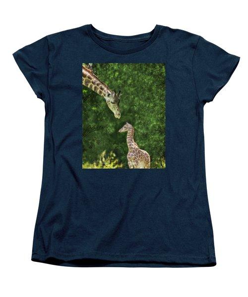 Momma Loves Me Women's T-Shirt (Standard Cut) by Marianne Campolongo