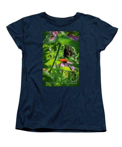 Monarch Butterfly Deep In The Jungle Women's T-Shirt (Standard Cut) by David Perry Lawrence