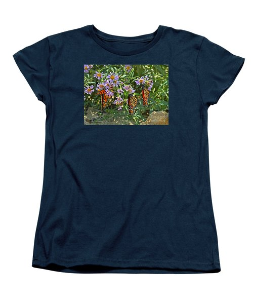 Monarch Butterfly Trio Women's T-Shirt (Standard Cut)