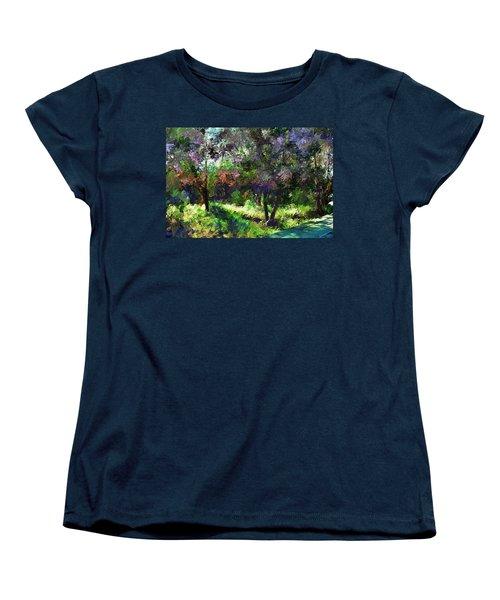 Monet's Garden Women's T-Shirt (Standard Cut) by Terence Morrissey