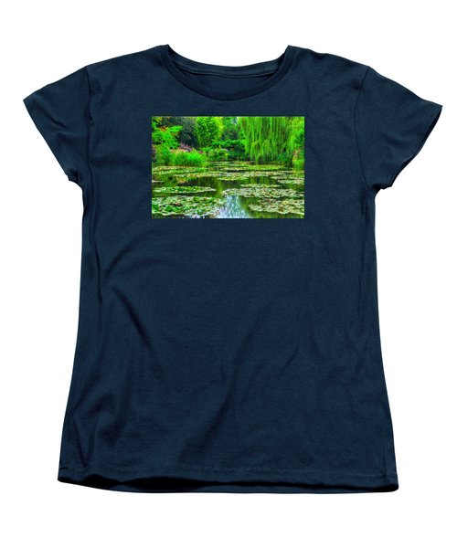 Monet's Lily Pond Women's T-Shirt (Standard Cut) by Midori Chan