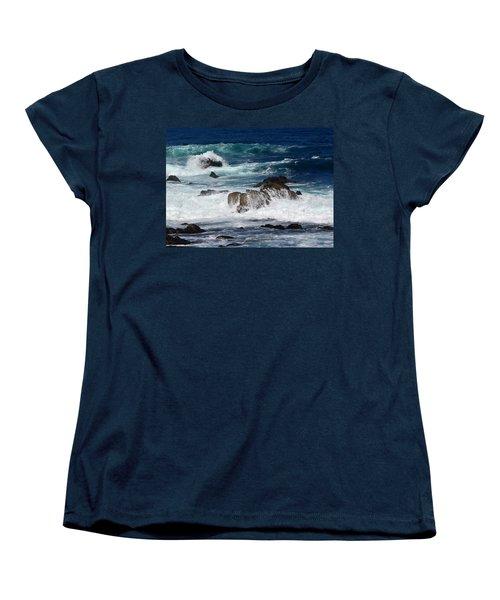 Women's T-Shirt (Standard Cut) featuring the photograph Monterey-6 by Dean Ferreira