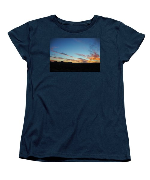 Monument Valley Sunset 2 Women's T-Shirt (Standard Cut) by Jeff Brunton
