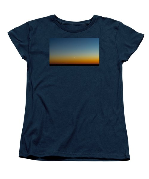 Moon And Venus I Women's T-Shirt (Standard Cut) by Marco Oliveira
