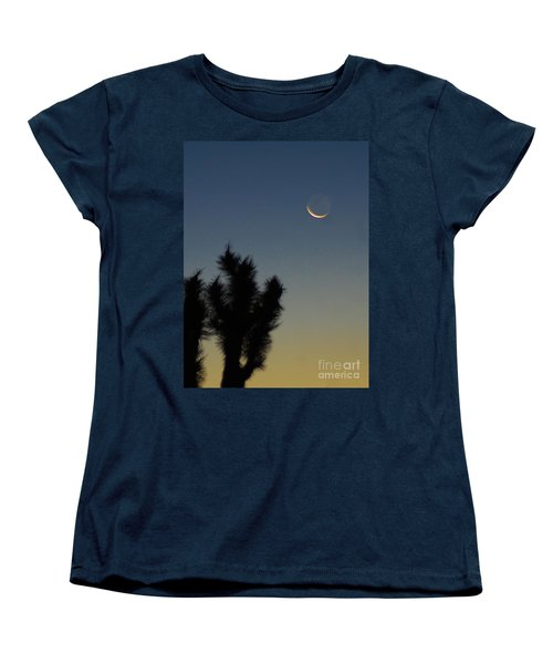 Women's T-Shirt (Standard Cut) featuring the photograph Moon Kissed by Angela J Wright