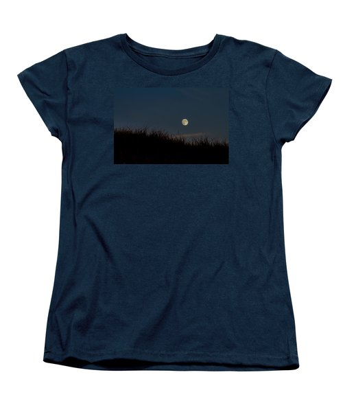 Moon Over The Dunes Women's T-Shirt (Standard Cut) by Brian Caldwell