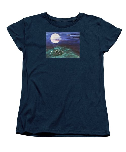 Moon Showers Women's T-Shirt (Standard Cut) by Cheryl Bailey