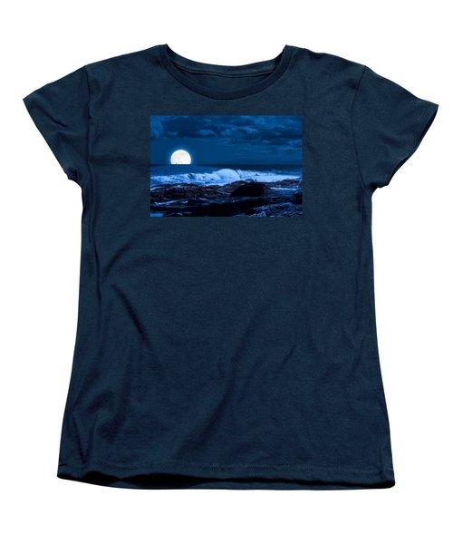 Moonlight Sail Women's T-Shirt (Standard Cut) by Fred Larson