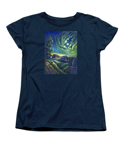 Moonlit Dreams Come True Women's T-Shirt (Standard Cut) by Retta Stephenson