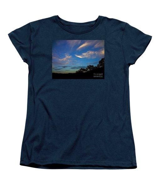 Moonrise Hill Women's T-Shirt (Standard Cut) by Gem S Visionary