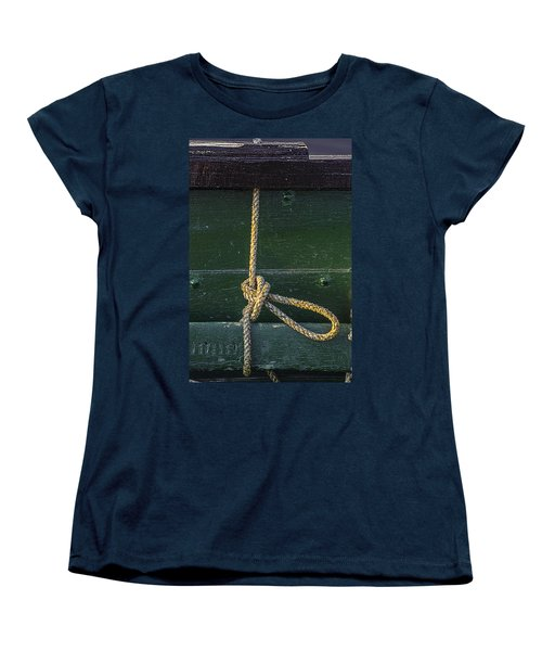 Women's T-Shirt (Standard Cut) featuring the photograph Mooring Hitch by Marty Saccone
