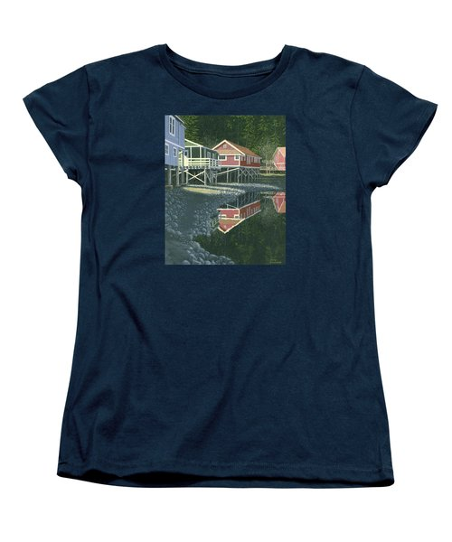 Morning At Telegraph Cove Women's T-Shirt (Standard Cut) by Gary Giacomelli