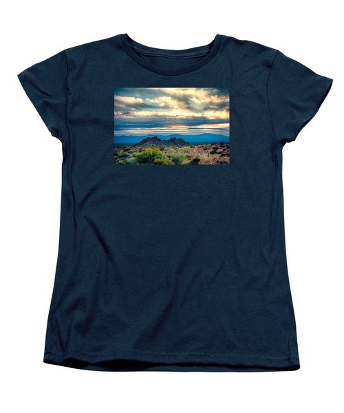 Morning Desert Glow Women's T-Shirt (Standard Cut) by Fred Larson