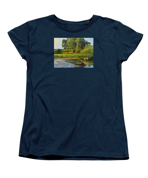 Morning Glow Women's T-Shirt (Standard Cut) by Bruce Morrison